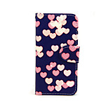 Love Pattern PU Leather Full Body Case with Card Slot and Stand for iPhone 5/5S