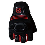 Sportswear Protective Gear Cycling Motocycle Racing Half Finger Gloves Red -Scoyco