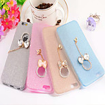 Bright Shiny Bowknot Exquisite Pendant Chain Design TPU Soft Back Case Cover for iPhone 6(Assorted Colors)