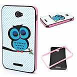2-in-1 Sleeping Owl Pattern TPU Back Cover + PC Bumper Shockproof Soft Case For Sony E4