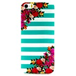 Diagonal Flowers Pattern TPU Material Phone Case for iPhone 5/5S