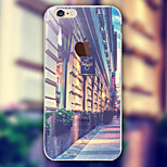 Scenery Street Pattern TPU Material Phone Case for iPhone 6/6S