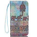 Elephant  Pattern PU Leather Phone Case For  iPhone 6/6S