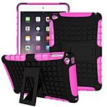 Miitary esercito plastica + gomma siliconica gel 2 in 1 caso duro antiurto con copertura del basamento per aria iPad 2 (colori assortiti)