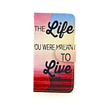 Love Life Pattern PU Leather Full Body Case with Card Slot and Stand for iPhone 5/5S