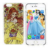 Disney Princess Belle Silicone Gel TPU material Semi-Transparent Case Free with Headfore HD Screen Protector for iPhone6