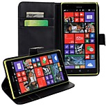 Solid color Light Surface Pattern Hard Case with Magnetic Snap and Card Slot for Nokia Lumia 1520