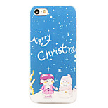 Christmas Style Snowman Kid Pattern Transparent PC Back Cover for iPhone 5/5S