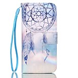 Campanula Pattern PU Material Card Case for iPhone 6/6S