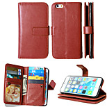 PU Leather+TPU Back Cover Wallet Much Card Holders+Cash Slot+Photo Frame Magnetic Phone Case for iPhone 6/6S