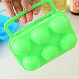 PP Egg Groove Outdoor Picnic Portable Box With Handle Eggs