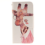 Professor Long Jin Deer Design PU Leather Full Body Case with Card Slot and Stand TPU Cover for iPod Touch 5