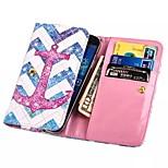 hochwertige Brieftasche die Wellen des Anker-Muster PU-Leder-Abdeckung für iPhone 6 / 6S (sortierte Größe)