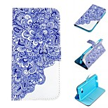 Blue And White Porcelain  Design PU Leather Full Body Case with Stand and Card Slot for Nokia Lumia N730