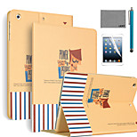 LEXY® Powerful Pattern PU Leather Flip Stand Case with Screen Protector and Stylus for iPad Air 2/iPad 6