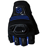 Sportswear Protective Gear Cycling Motocycle Racing Half Finger Gloves Blue -Scoyco