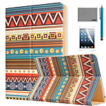 LEXY® Tribal Totem Pattern PU Leather Flip Stand Case with Screen Protector and Stylus for iPad Air/iPad 5