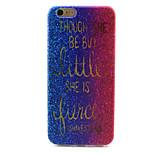 Glitter Pattern TPU Case for iPhone 6S/6