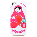 Chinese Roly-poly Pattern Transparent PC Back Cover for iPhone 5/5S