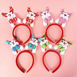 Elk Head Hoop Head Buckle Headwear For Christmas Party (Random Color)