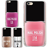 MAYCARI®The Exciting Nail Polish Transparent Soft TPU Back Case for iPhone 6/iphone 6S(Assorted Color)