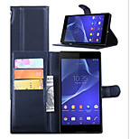 Embossed Card Wallet Cover For Bracket Sony Sony Xperia T3 Mobile Phone