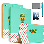 LEXY® Let It Grow Pattern PU Leather Flip Stand Case with Screen Protector and Stylus for iPad Mini 1/2/3