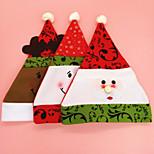 Christmas More Accessories Unisex Santa Suits Hats For Christmas Party (Random Color)