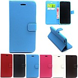 Matte Litchi Pattern PU Leather Full Body Cases Phone Protective Shell with Card Bag for iPhone 6 Plus