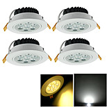 4 pcs YouOKLight 7 W 7 High Power LED 700 LM Warm White / Cool White Decorative Recessed Lights AC 85-265 V