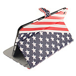 The American Flag Pattern PU Leather Full Body Case TPU With Stand for iPad Mini 4
