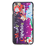 Christmas Style Santa Phrase Pattern PC Hard Back Cover for iPhone 6