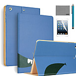 LEXY® Smile Pattern PU Leather Flip Stand Case with Screen Protector and Stylus for iPad Air 2/iPad 6