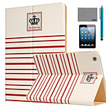 LEXY® Crown Pattern PU Leather Flip Stand Case with Screen Protector and Stylus for iPad Mini 1/2/3