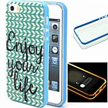 2-in-1 Herringbone Pattern TPU Back Cover with PC Bumper Shockproof Soft Case for iPhone 6/6S