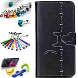 Geometric Pattern PU Leather Phone Holster Includes Stand Anti-dust Plug stylus, for Samsung Galaxy S4 mini I9190