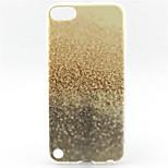 brillar patrón de la pintura de arena TPU caso suave para el tacto 5