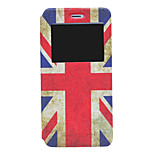 American Flag Pattern PU Window Full Body Case for iPhone 6 Plus