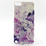 Beautiful Life Pattern TPU Soft Cover for iPhone Touch 5