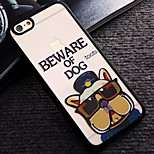 Glasses Dog Pattern TPU and PC Material Combo Phone Case for iPhone 6/6S