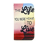 Love Life Pattern PU Leather Full Body Case with Stand for Nokia Lumia 635