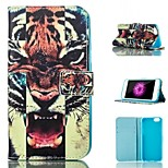 Tiger Pattern Card Stand PU Leather Protective Shell Case Cover for iPhone 6 / 6S