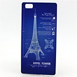 Eiffer Tower Painting Pattern TPU Soft Case for Huawei P8 Lite