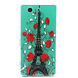 Effie Tower Pattern TPU Relief Back Cover Case for Sony Xperia Z3 Compact