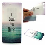 I Choose To Be Happy Words Phrase Pattern 0.6mm Ultra-Thin Soft Case for Sony M5