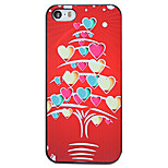 Christmas Style Heart Stripes Tree Pattern PC Hard Back Cover for iPhone 5/5S