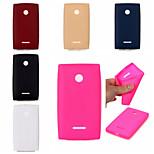 Leather Texture Soft TPU Case for Lumia 435