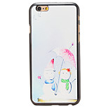 Christmas Style Snowman Under Umbrella Pattern PC Hard Back Cover for iPhone 6 Plus