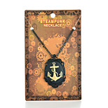 Vintage Steampunk Anchor Pendant Necklace