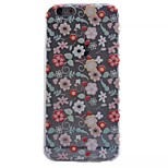 flowers pattern TPU Back Caes Transparent Painted relief Case For iPhone6/6s